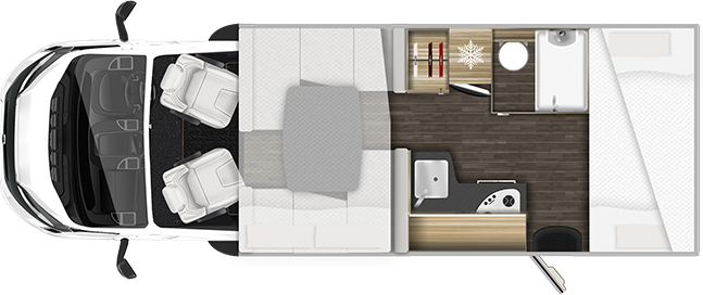 Auto Roller Motorhome Layout