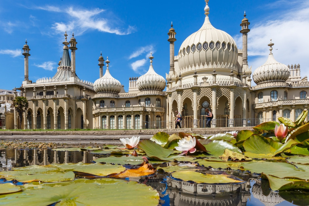 A view of the Royal Pavilion in Brighton