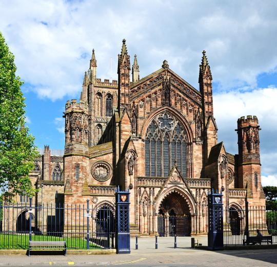 Hereford Cathedral on a sunny day