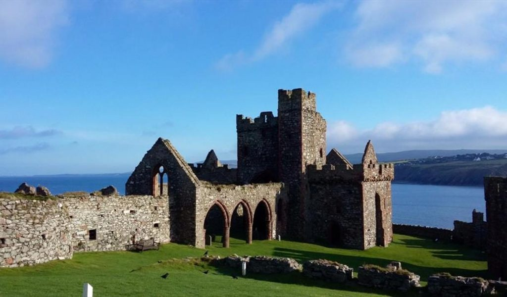 Peel Castle on a sunny day