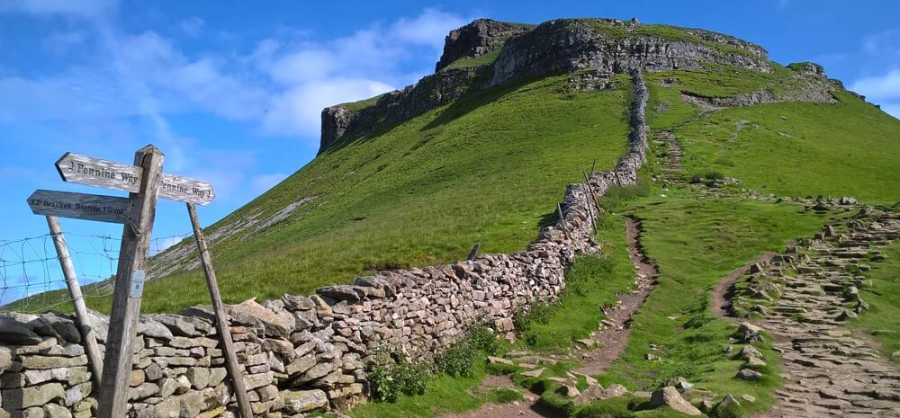 A section of the Pennine Way wall