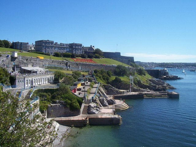 A sunny view of Plymouth Hoe