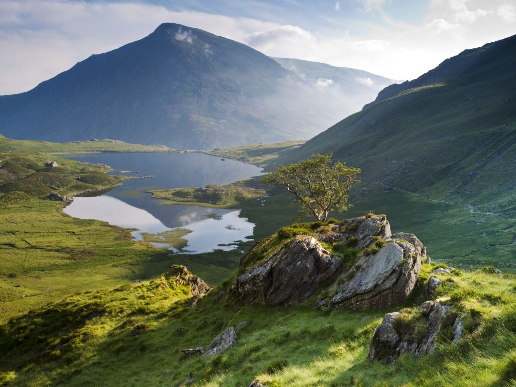 Hills and lakes in Snowdonia