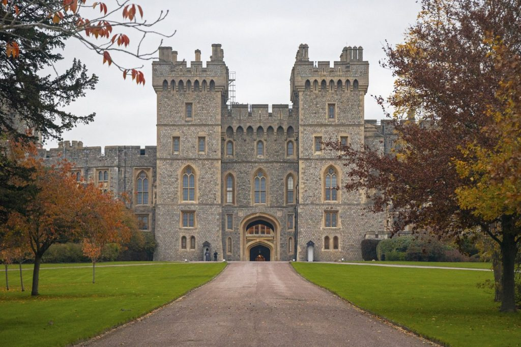 Road leading up to Windsor Castle